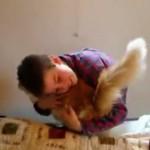 10年間一緒に育った猫ちゃんが突然行方不明に・・・12日ぶりに再会した少年が涙する