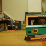 トラックを運転して配達をするクロネコヤマトの猫ちゃん